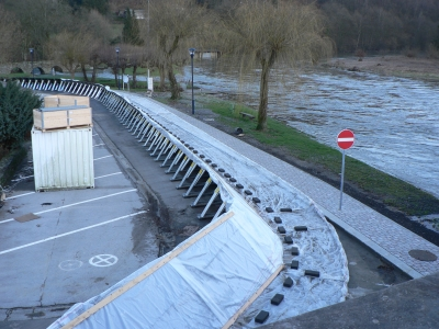 Barrière Inondation Flexible Ancrage Support