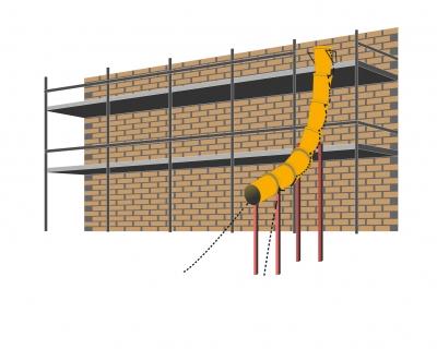 Installation goulotte de chantier