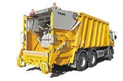 Camion poubelle avec compacteur