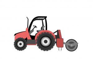 Fraise et herse rotative pour tracteur