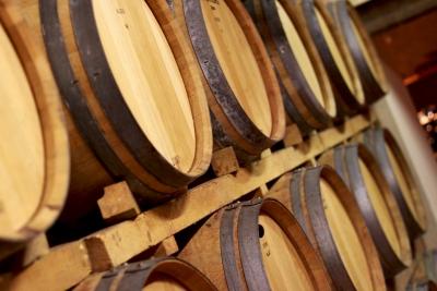 Cuve à vin en bois
