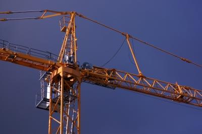 Grue chantier construction