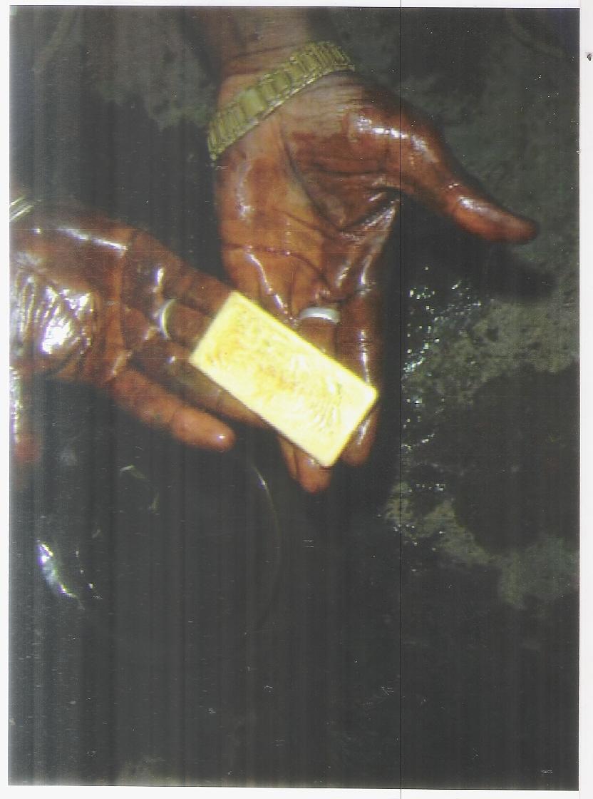 Vente de  l'or en  poudre et en lingote