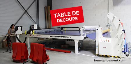 Nouvel outil de production: Table de découpe ...