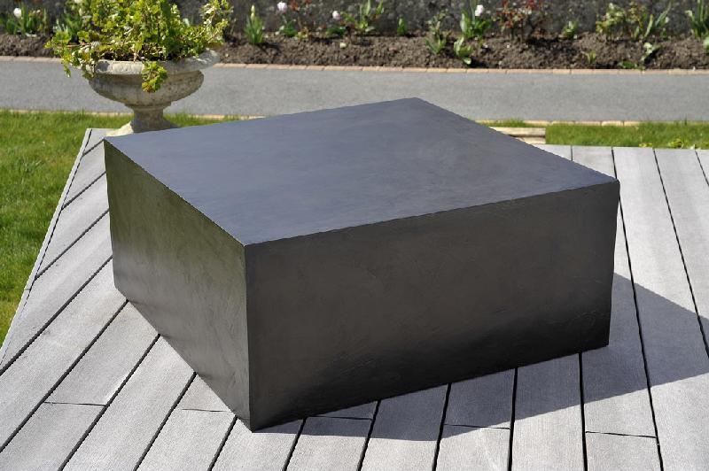 Table basse beton cire cube