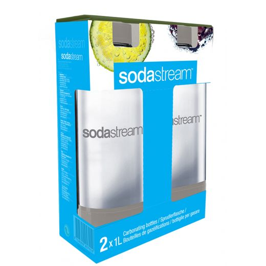 bouteille sodastream 2 x 1l pet gris. Black Bedroom Furniture Sets. Home Design Ideas