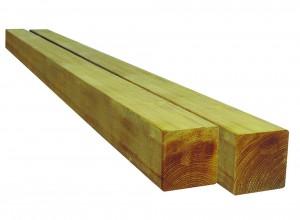 Poteau carré pin 6.8x6.8x140 cm