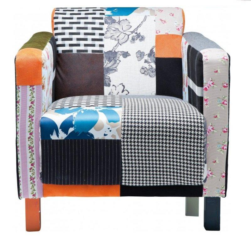 sunny fauteuil fixe vintage patchwork. Black Bedroom Furniture Sets. Home Design Ideas