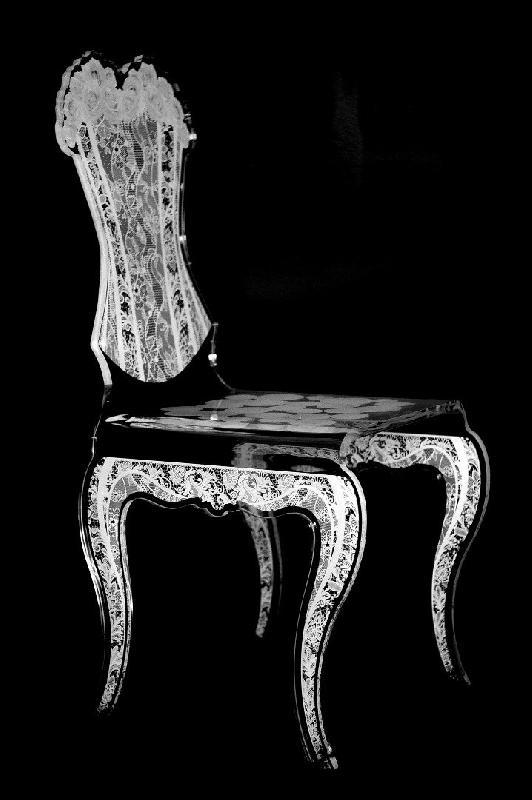 Eman Chaise Design En Plexi Blanc Par Acrila