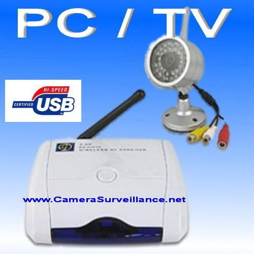 KIT VIDEO SURVEILLANCE SANS FIL CAMERA + RECEPTEUR USB