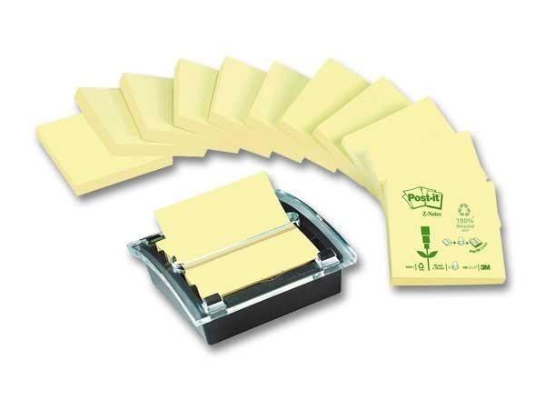 pack avantage d vidoir millenium recycl 12 z notes 76x76 mm jaune neuf 3m post it. Black Bedroom Furniture Sets. Home Design Ideas