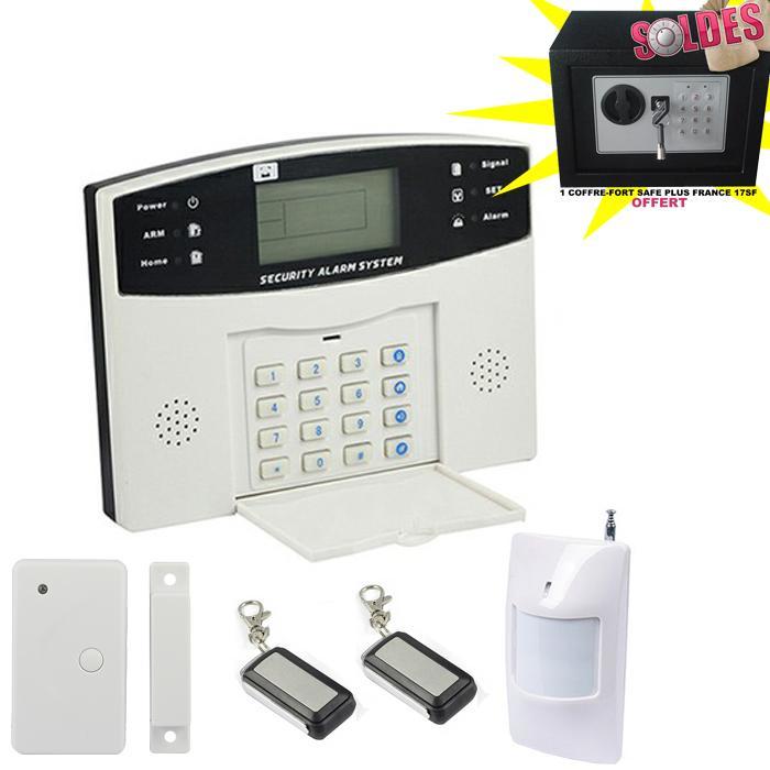 alarme maison sans fil et filaire avec transmetteur gsm ematronic al01 comparer les prix de. Black Bedroom Furniture Sets. Home Design Ideas