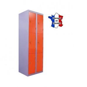 casiers metalliques l600 2 colonnes 6 portes. Black Bedroom Furniture Sets. Home Design Ideas