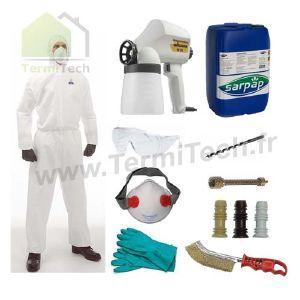 Kit complet de traitement du bois wagner prêt à l'emploi avec 0.5 l d'insecticide sarpeco
