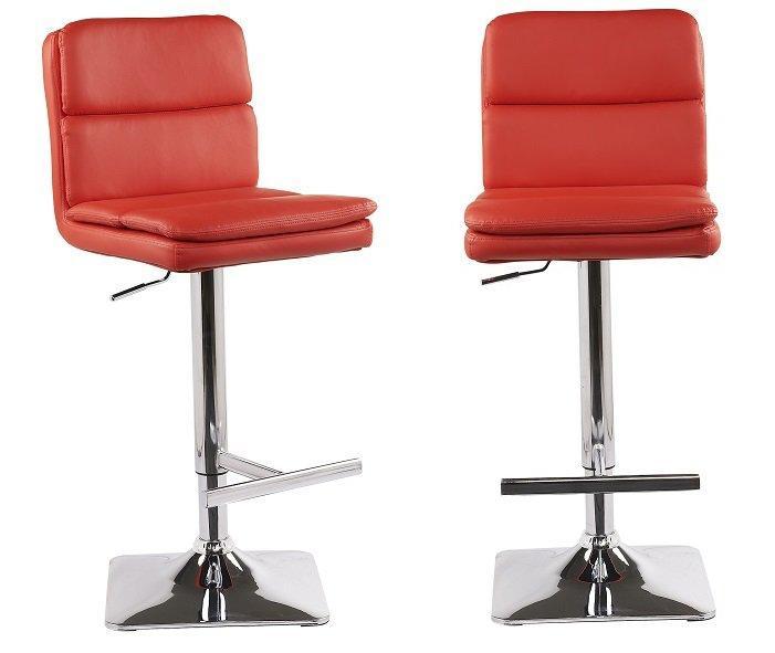 Lot de 2 tabourets chaises de bar reglables houston - Chaises de bar rouge ...