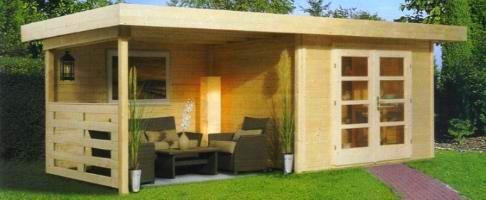 cabanes en bois chill out house avec terrasse couverte. Black Bedroom Furniture Sets. Home Design Ideas