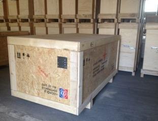 Caisse bois traitee nimp pour export