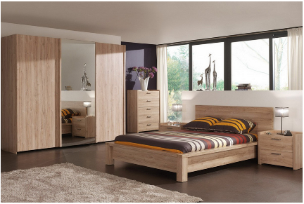 chambre a coucher complete bois design. Black Bedroom Furniture Sets. Home Design Ideas