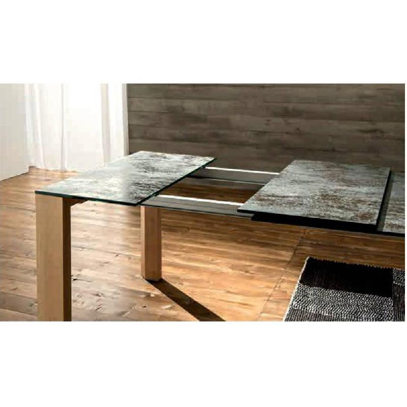 Equinox Table Repas Extensible En Verre Ceramique Anthracite