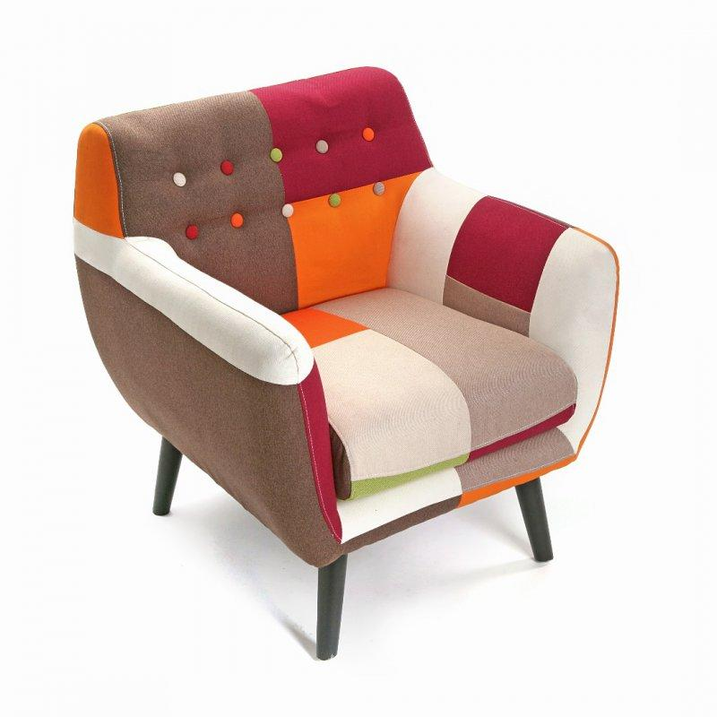 steed fauteuil patchwork avec accoudoirs. Black Bedroom Furniture Sets. Home Design Ideas