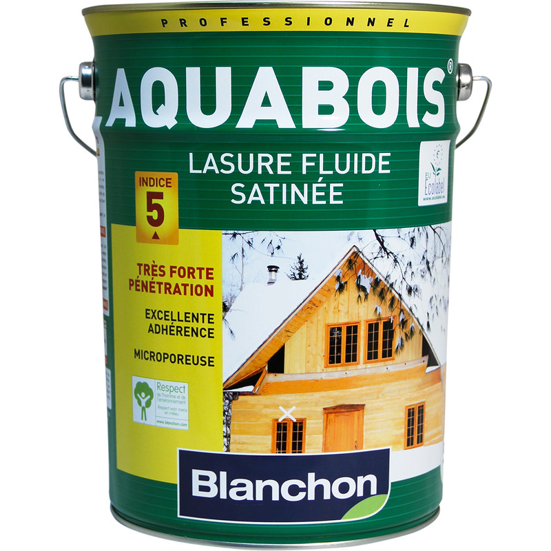 LASURE AQUABOIS BLANCHON 5L - CHÊNE RUSTIQUE