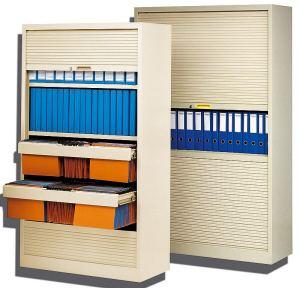 armoire monobloc de bureau avec rideaux horizontaux. Black Bedroom Furniture Sets. Home Design Ideas