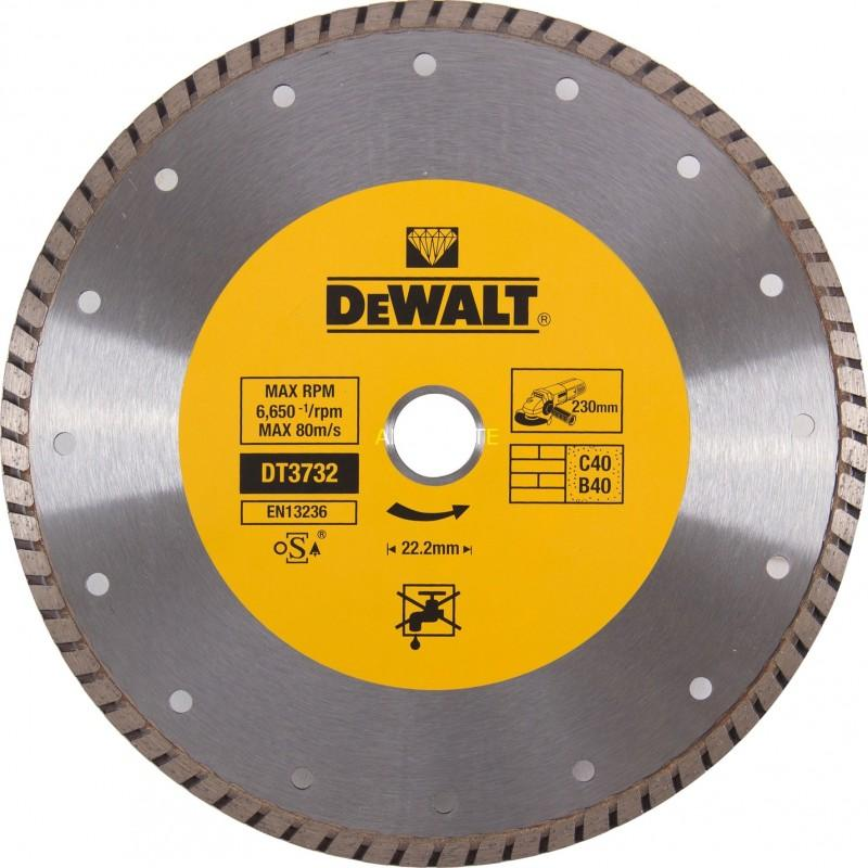 Dewalt dt3732-qz disque turbo pour matériaux de construction/béton 230x22.2mm 22.2