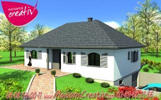 habitations completes maison de plain pied lenny. Black Bedroom Furniture Sets. Home Design Ideas