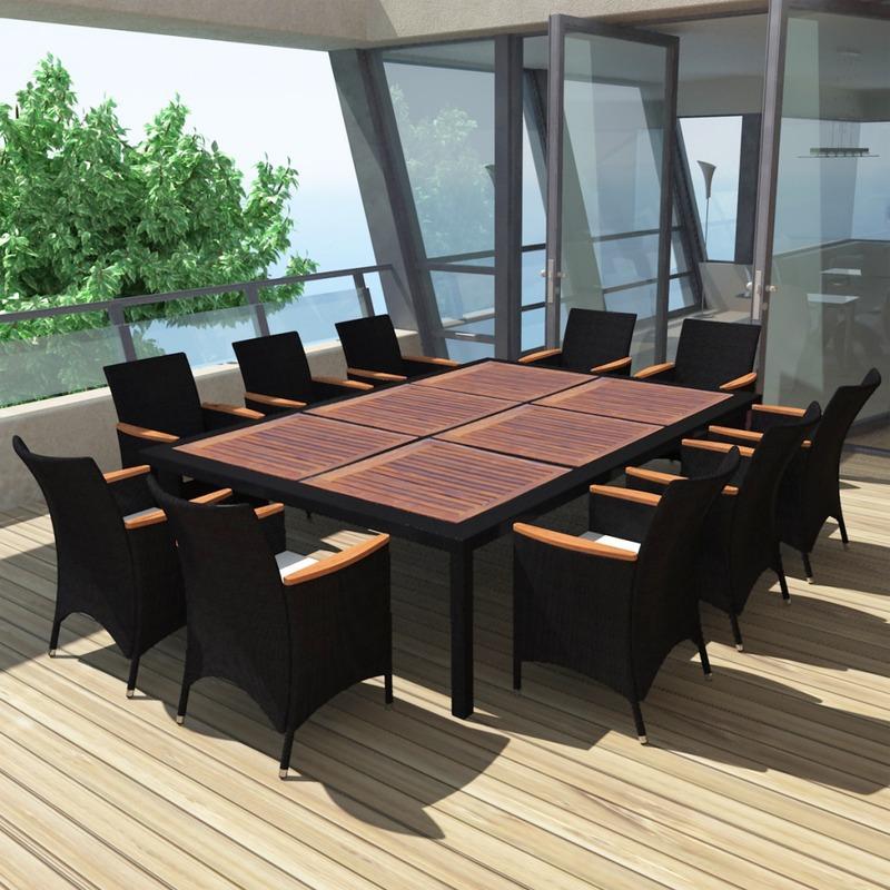 Chaises pour salles manger vidaxl achat vente de for Salle a manger en rotin pour veranda