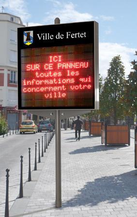 Affichage electronique for Afficheur led exterieur