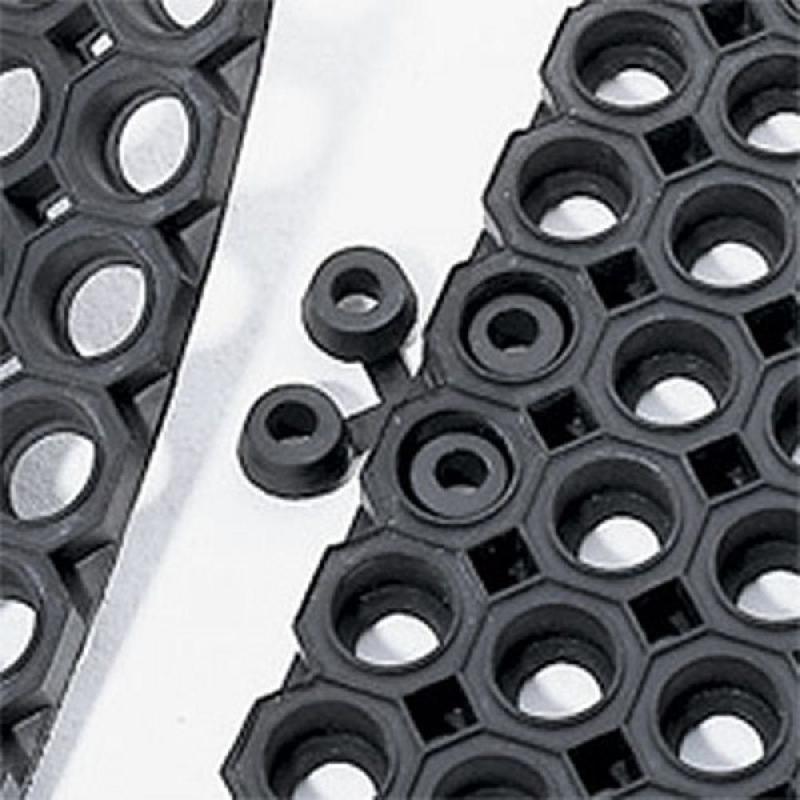 Staples connecteurs pour tapis d 39 ext rieur caillebotis en for Tapis caillebotis caoutchouc exterieur