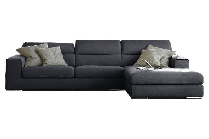 canap d 39 angle droite fixe 4 places antigua tissu microfibre noire comparer les prix de canap d. Black Bedroom Furniture Sets. Home Design Ideas