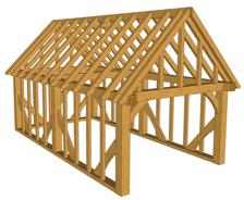 Maison à ossature en bois plain-pied b01 bay / en kit / toit double pente