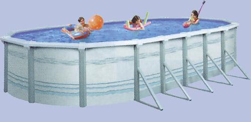 piscine hors sol ovale Trinité