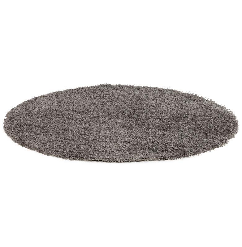 tapis design 39 cava 39 rond 160 cm poils longs gris comparer les prix de tapis design 39 cava 39 rond. Black Bedroom Furniture Sets. Home Design Ideas