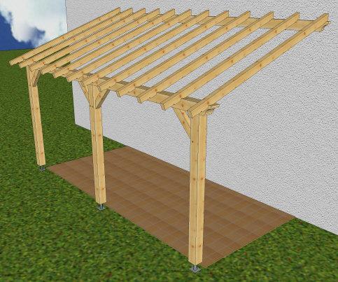 Auvent 1 pente sur pignon charpente - Maison avec toit une pente ...
