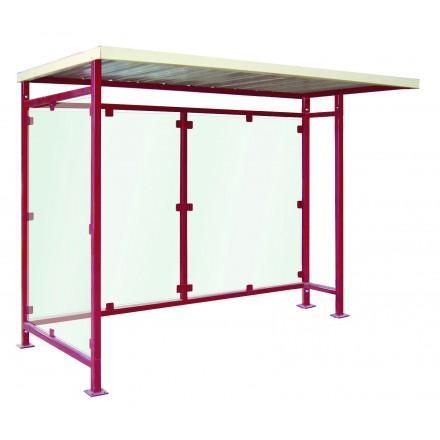 Abri bus simple / structure en acier / bardage en plexiglas / en 300 x 155 cm