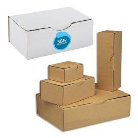 Boîtes postales carton blanche ou marron personnalisables