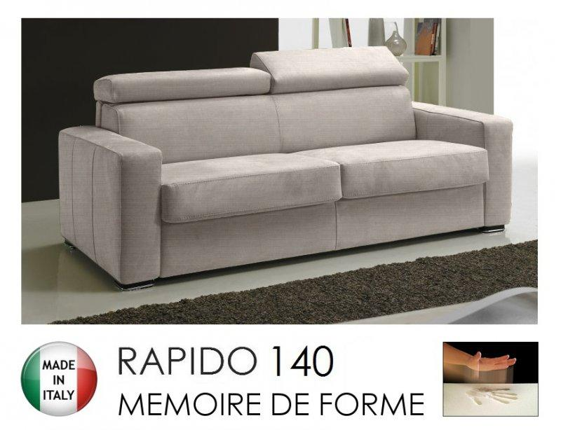 canape rapido sidney memory matelas 140 14 190 cm memoire de forme tweed cross coloris ecru. Black Bedroom Furniture Sets. Home Design Ideas
