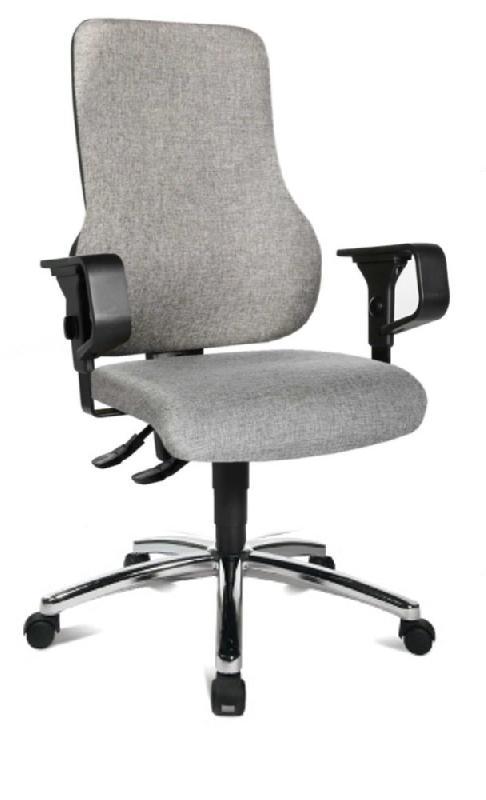 fauteuil de bureau reglable success en tissu tweed gris. Black Bedroom Furniture Sets. Home Design Ideas