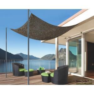 Filet ombrage sahara bicolore pour terrasse - 2005777-2,40x3m