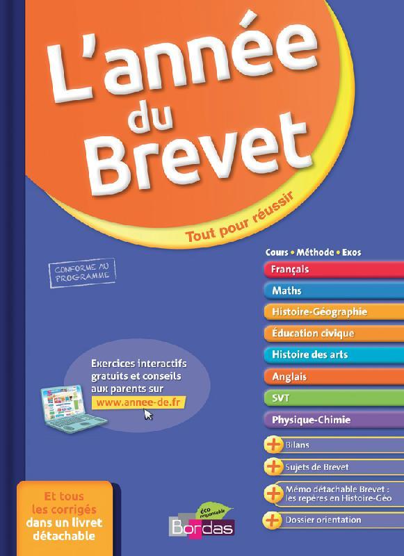 LIVRE SCOLAIRE L'ANNÉE DU BREVET + LIVRET DE JEUX GRATUIT - NATHAN