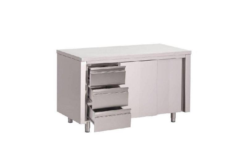 Placard de rangement cuisine tiroir tous les for Placard cuisine inox