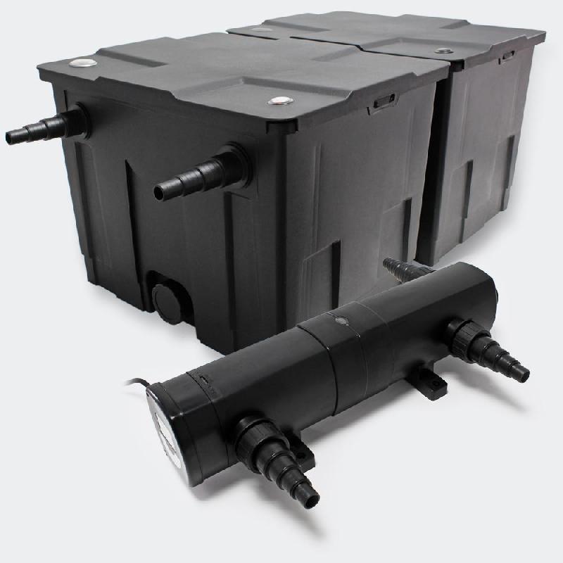 Kit de filtration de bassin bio filtre 60000l et stérilisateur uvc 24 watts 4216503