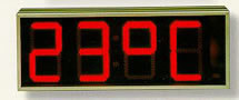 Thermometre horloge led for Thermometres exterieurs