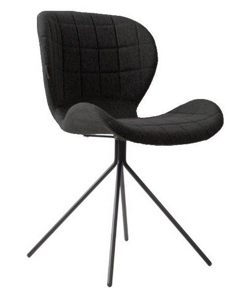 zuiver chaises omg noire comparer les prix de zuiver chaises omg noire sur. Black Bedroom Furniture Sets. Home Design Ideas