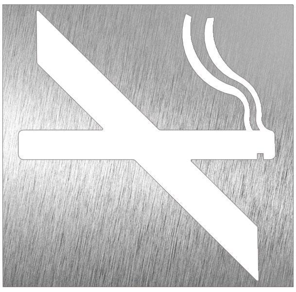 Pictogramme inox d fense de fumer comparer les prix de for Panneau inox autocollant