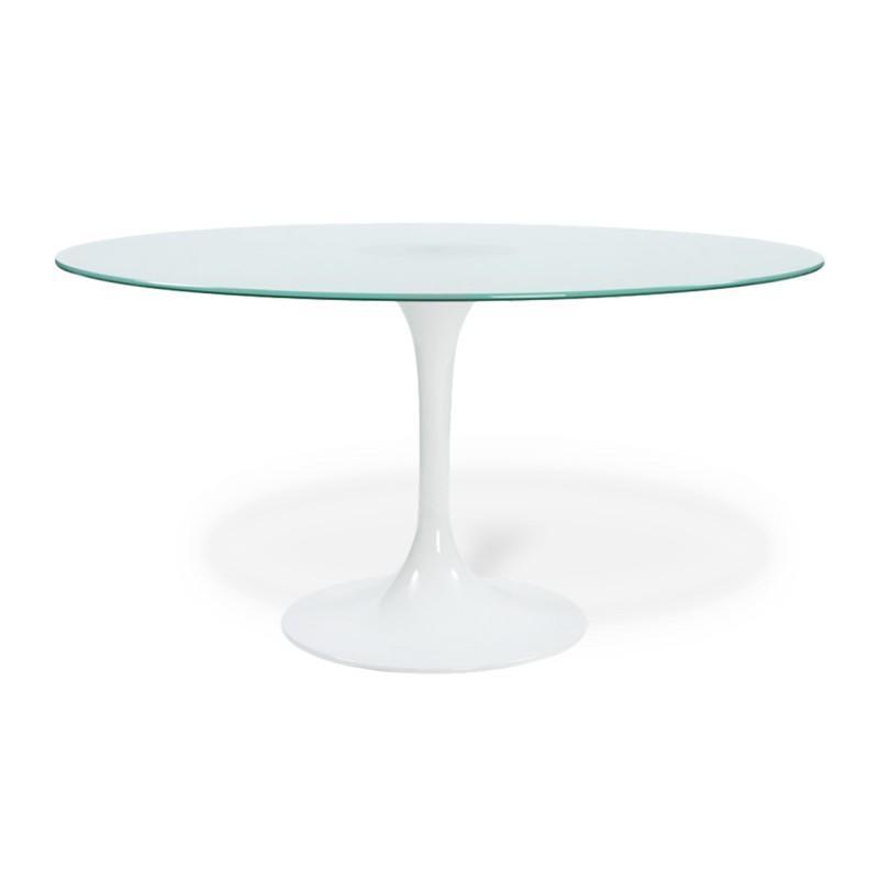 Tables manger comparez les prix pour professionnels - Table ronde verre trempe ...