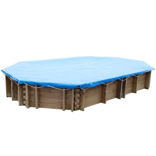 Bache hiver pour piscine bois 5 85 x 4 10 m 550g m for Bache pour bassin largeur 10 m