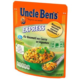 uncle ben 39 s express riz basmati au curry et legumes 250 g. Black Bedroom Furniture Sets. Home Design Ideas